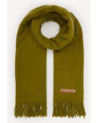 Acne Studios Canada New Wool Scarf - Green