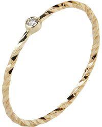 Maria Black - Gold Diamond Cut Jabari Ring - Lyst