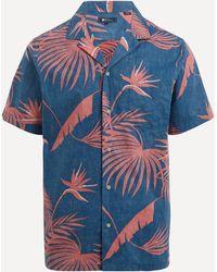 Reyn Spooner Red Palm Short-sleeve Shirt - Blue