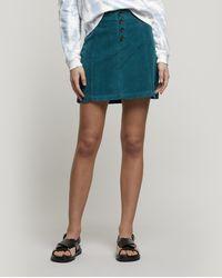 Paloma Wool Disco Stretch-cotton Corduroy Mini-skirt - Green