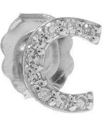 KC Designs - Rose Gold Diamond C Single Stud Earring - Lyst