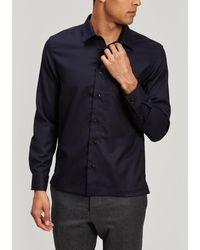 Officine Generale Sol Flannel Overshirt - Blue