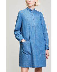A.P.C. - Robe Smoking Denim Mini Dress - Lyst