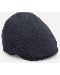 Christys' Balmoral Tweed Flat Cap - Blue