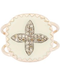 Pascale Monvoisin Rose Gold Bowie N°2 Diamond And Bakelite Ring - Metallic