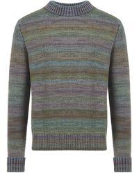 Acne Studios Melange Stripe Knit Sweater - Multicolour