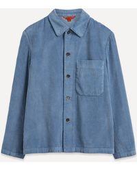 Barena Batipai Boxy Corduroy Shirt - Blue