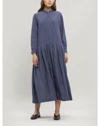 Pas De Calais Linen Button-up Shirt-dress - Blue
