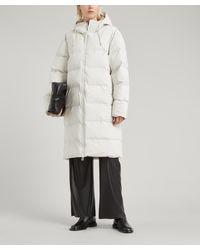 Rains Long Water-resistant Thermal Puffer Jacket - Grey
