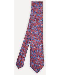 Liberty Wallflower Woven Silk Tie - Red