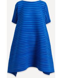 Pleats Please Issey Miyake Komorebi Bounce Dress - Blue