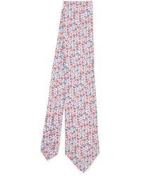 Liberty Walker Printed Silk Tie - Pink