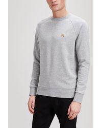 Maison Kitsuné Fox Head Patch Cotton Sweater - Grey