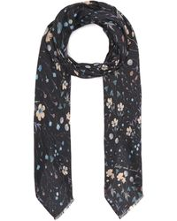 Lily and Lionel Night Garden Modal-blend Scarf - Multicolour