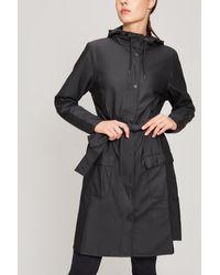 Rains Curved Jacket - Black