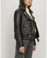 Acne Studios Merlyn Leather Jacket - Black
