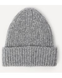 Acne Studios Wool-blend Beanie Hat - Grey