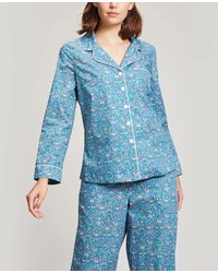 Liberty Lmran Cotton Pyjama Set - Blue