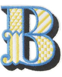 Liberty Embroidered Sticker Patch In B - Blue