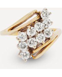 Kojis Gold Diamond Twist Cluster Ring - Metallic