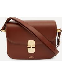 A.P.C. Grace Small Leather Cross-body Bag - Brown