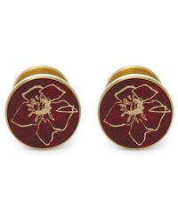 Alice Made This Poppy Patina Cufflinks By Jessica Bird - Red