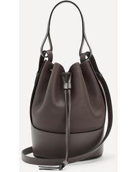 Loewe Balloon Leather Bucket Bag - Brown