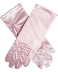 Dents Short Satin Gloves - Pink