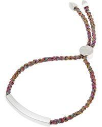 60f6845bbb318 Silver Linear Cord Friendship Bracelet
