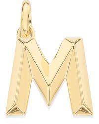 Monica Vinader - Gold Vermeil Alphabet Pendant A-z - Lyst