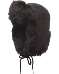 Charlotte Simone - Helmet Head Faux Fur And Suede Trapper Hat - Lyst