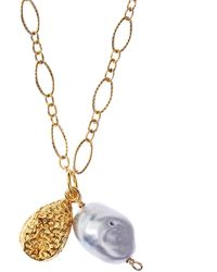 Alighieri Gold-plated Solidarity Tear At Dusk Freshwater Pearl Necklace - Metallic