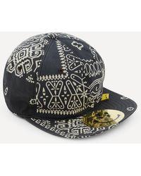 Kapital Bandana Patchwork Baseball Cap - Black