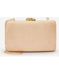 Kayu Jen Straw Clutch Bag - Pink