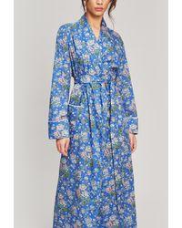 Liberty Grace Tana Lawn Cotton Robe - Blue