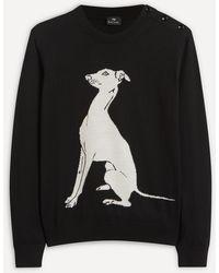 Paul Smith Greyhound Intarsia-knit Jumper - Black