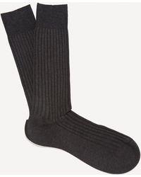 Pantherella Danvers Ribbed Socks - Grey