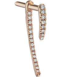 Maria Tash Double Diamond Talon Stud Earring - Multicolour