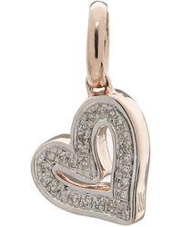 Monica Vinader Rose Gold Plated Vermeil Silver Alphabet Diamond Heart Pendant - Metallic