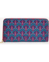 Liberty Zip-around Wallet In Iphis Canvas - Brown