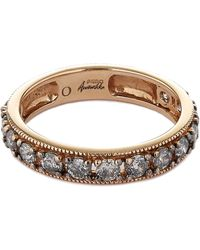 Annoushka - 18ct Rose Gold Dusty Diamond Eternity Ring - Lyst