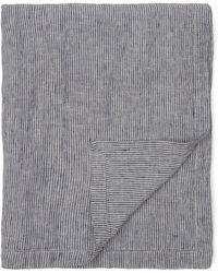 Frescobol Carioca Thin Stripe Linen Towel - Blue