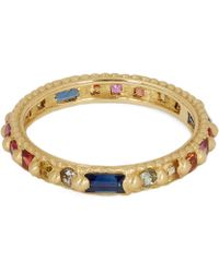 Polly Wales - Gold Rapunzel Harlequin Rainbow Sapphire Ring - Lyst