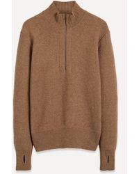Oliver Spencer Half-zip Knit Jumper - Brown