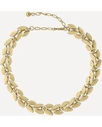 Susan Caplan Gold-plated 1970s Trifari Leaf Necklace - Metallic