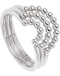 Astley Clarke - Silver Stilla Arc Curve Ring - Lyst