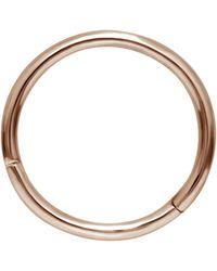 Maria Tash 9.5mm Plain Hoop Earring - Metallic