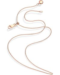Monica Vinader Rose Gold Plated Vermeil Silver Short Rolo Chain - Metallic