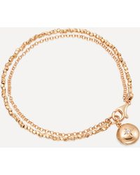 Astley Clarke Biography White Sapphire Locket Bracelet - Metallic