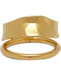 Maria Black Gold-plated Midnight Ring - Metallic
